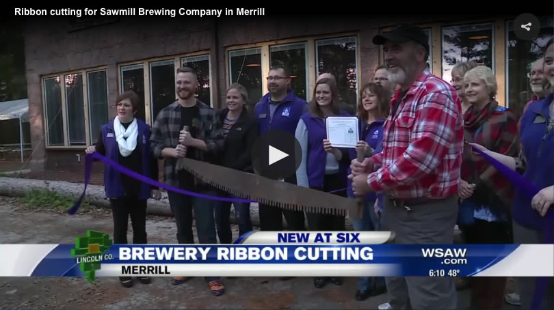WSAW Sawmill Brewing Co. Ribbon Cutting Ceremony
